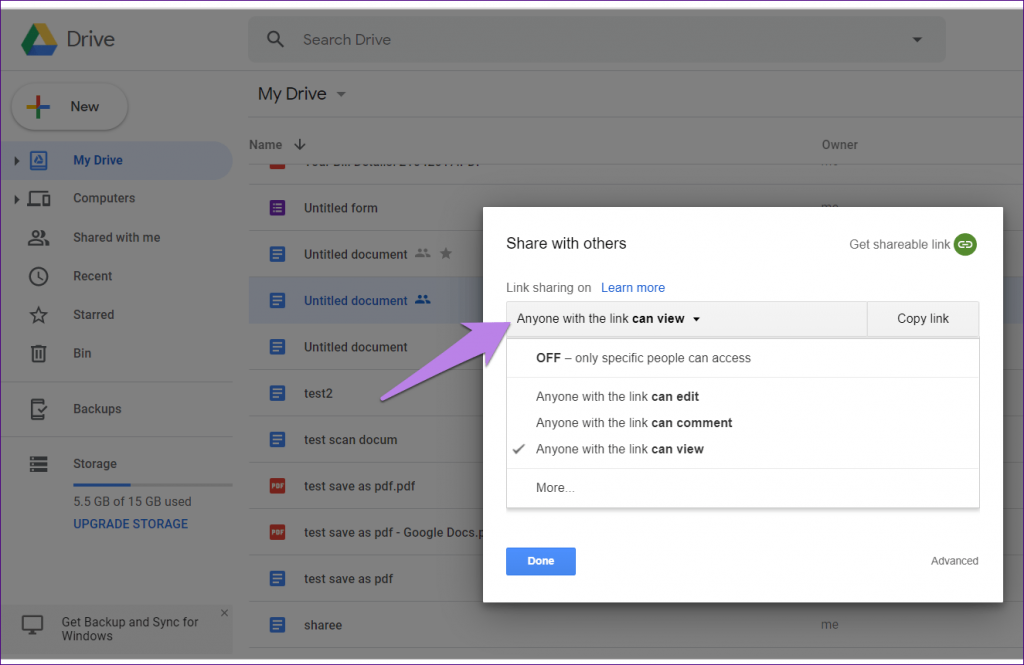 Hướng dẫn hạn chế quyền truy cập tệp tin trong Google Drive