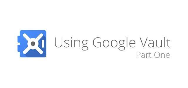 Google vault