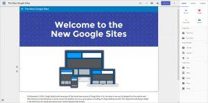 Google Sites new