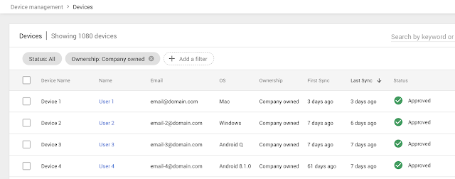 Company-owned devices in G Suite
