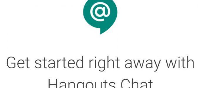 Hangouts chat