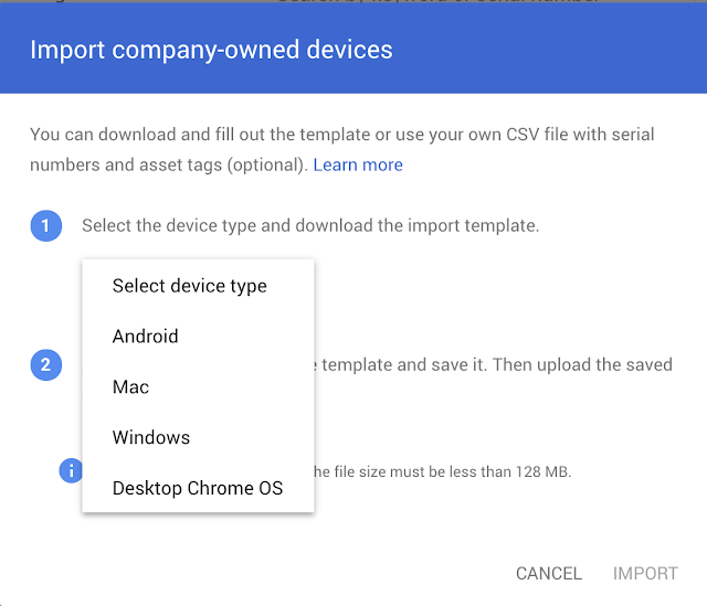 Import company-owned devices