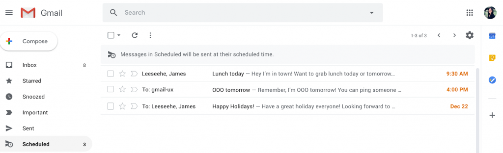 hẹn giờ gửi trong Gmail