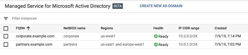Phiên bản beta: Quản lý dịch vụ Microsoft Active Directory (AD)