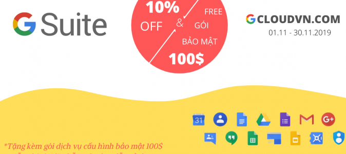 Khuyến mãi email doanh nghiệp G Suite