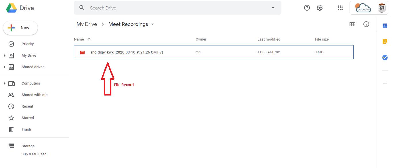 lưu trữ trên google drive