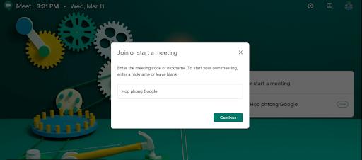tạo cuộc họp