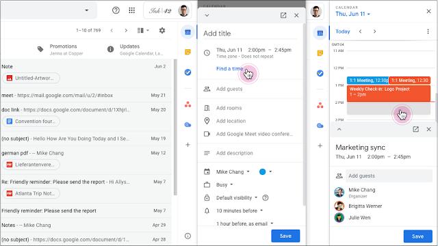 Google cho phép chỉnh sửa các sự kiện Calendar trực tiếp trên Gmail và Docs