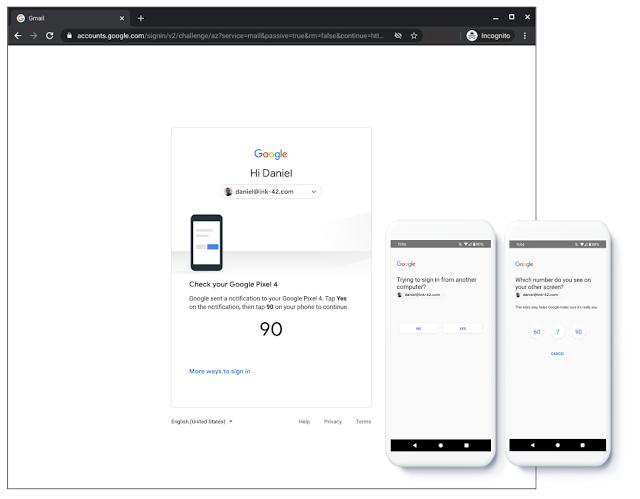 Google tăng cường bảo mật 2 bước bằng cách hiển thị lời nhắc trên điện thoại cho nhiều người dùng