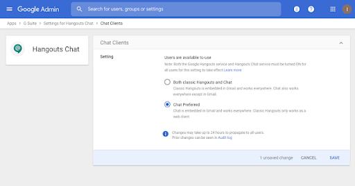 Google Chat thay cho Hangouts Chat cũ đã có sẵn trong Gmail