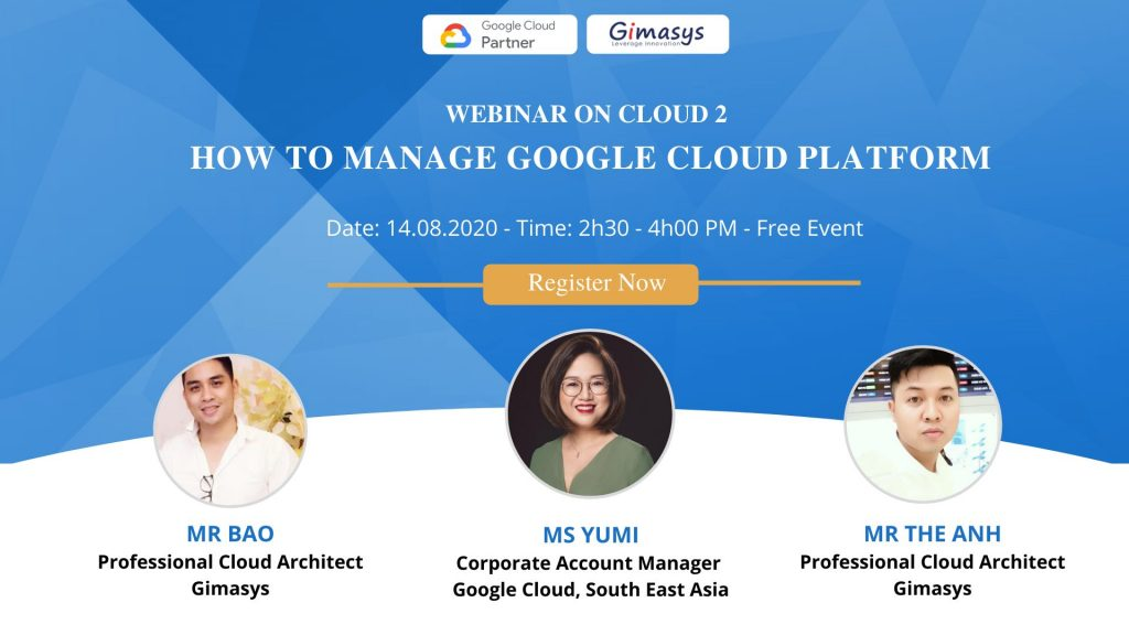 Webinar 14/08/2020: How to manage google cloud platform