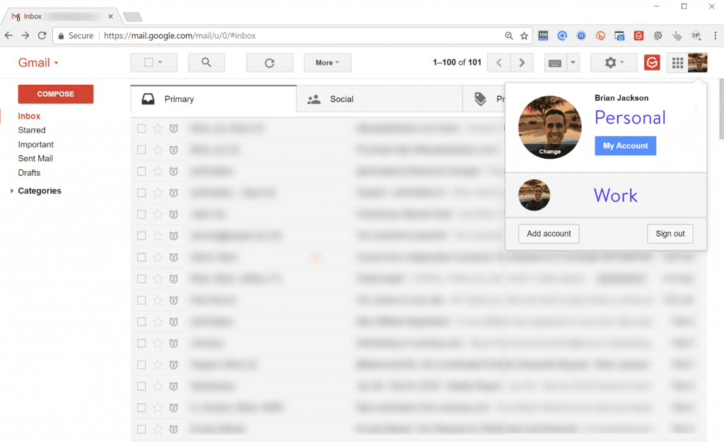 giao diện gmail g suite