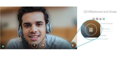 Làm mờ hình nền của bạn trong Google Meet