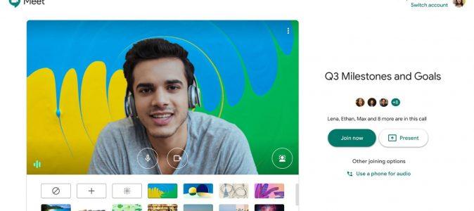 Google Meet cho phép thay đổi phông nền của bạn trong cuộc họp