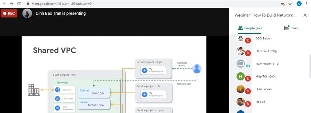 Chương trình Webinar 09/10/2020: HOW TO BUILD NETWORK ON GOOGLE CLOUD PLATFORM