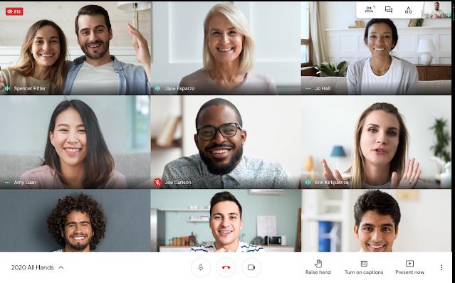 Số lượng người xem trực tiếp trong cuộc gọi Google Meet