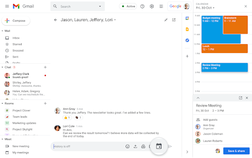 Schedule event on Google Chat