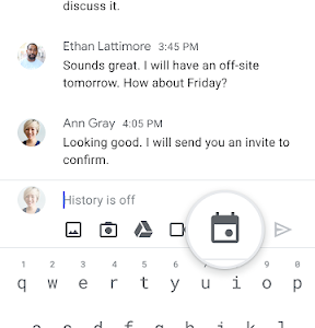 icon schedule events from Google Chat