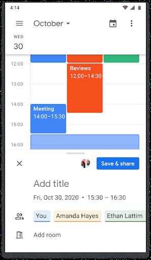 Mở trong ứng dụng Calendar