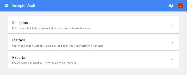 Google Vault cập nhật giao diện mới
