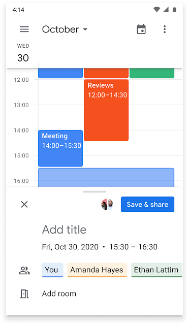 Tạo sự kiện trên Google Calendar trực tiếp từ Google Chat