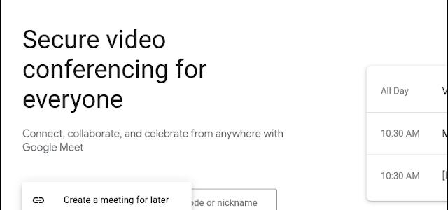 Google Meet hỗ trợ tùy chọn tham gia cuộc họp từ trang chủ