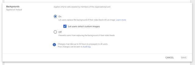 Google Meet bổ sung tính năng kiểm soát thay đổi hình nền