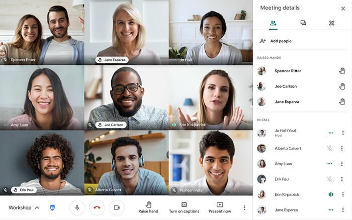 tạo breakout rooms trong google meet google workspace