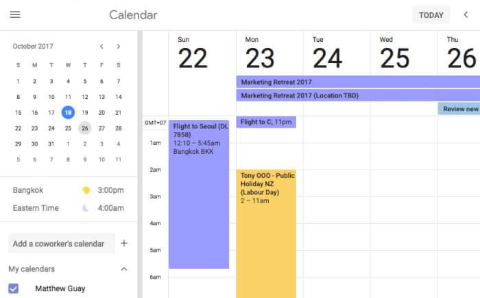 theo dõi thời gian google calendar