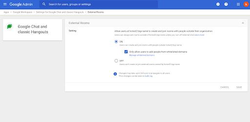 Google Chat: hạn chế tin nhắn từ người lạ không an toàn