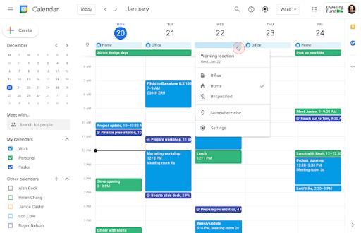 Google Calendar: chia sẻ thời gian làm việc của bạn